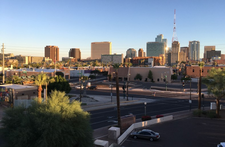 View of DTPHX from my parking garage